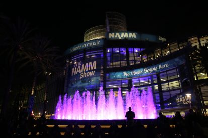 ANAHEIM, CALIFORNIA - JANUARY 18: A view at night of The 2020 NAMM Show on January 18, 2020 in Anaheim, California. (Photo by Jesse Grant/Getty Images for NAMM)