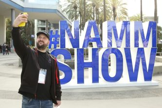 ANAHEIM, CALIFORNIA - JANUARY 19: A guest attends The 2020 NAMM Show on January 19, 2020 in Anaheim, California. (Photo by Jesse Grant/Getty Images for NAMM)