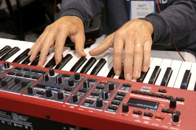 ANAHEIM, CALIFORNIA - JANUARY 19: Gear on display at The 2020 NAMM Show on January 19, 2020 in Anaheim, California. (Photo by Jesse Grant/Getty Images for NAMM)