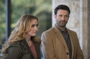 """Supernatural --""""Ladies Drink Free""""-- SN1216a_0071.jpg -- Pictured (L-R): Kathryn Love Newton as Claire and Adam Fergus as Mick Davies -- Photo: Diyah Pera/The CW -- © 2017 The CW Network, LLC. All Rights Reserved"""