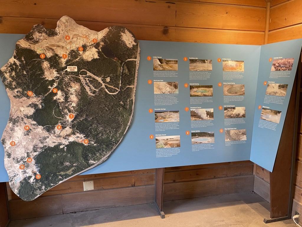 Norris Geyser Basin map