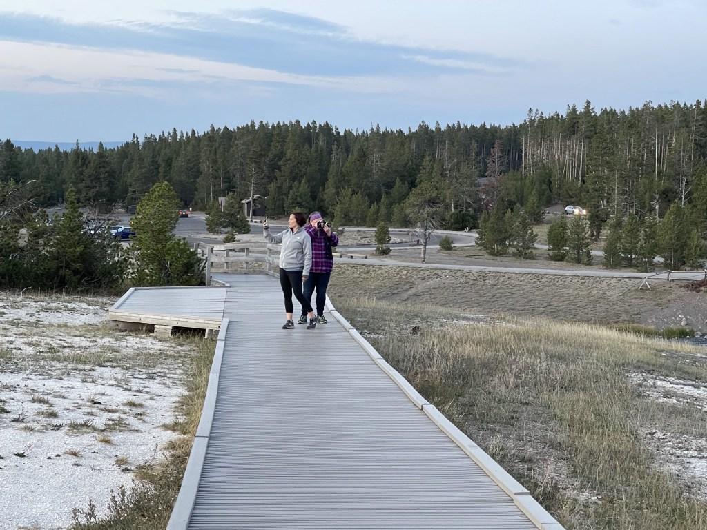 Eliza and Jenn on boardwalk