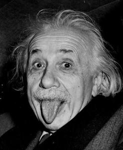 The nutty professor himself...