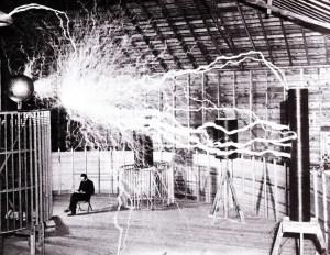 Tesla creating artificial lightning