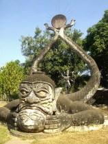 Laos - Vientiane - Escultura Parque Buda