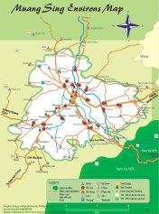 Luang Namtha - Mapa Muang Sing