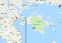 Ruta por la Bahía de Halong - Mapa Halong Bay