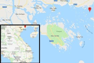 Vietnam - Mapa Halong Bay