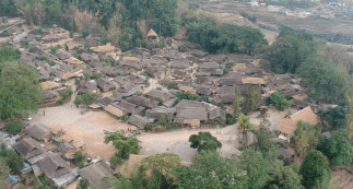 Wending Vista aérea 4 - Wengding, la última aldea tribal de China
