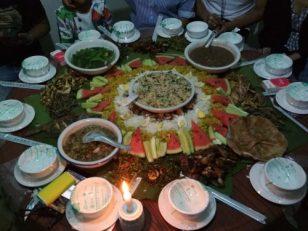 Comida típica de la minoría étnica Wa