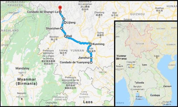 Viaje organizado a Yunnan - Ruta por Yunnan