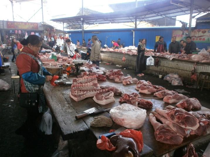 Mercado callejero de Puer