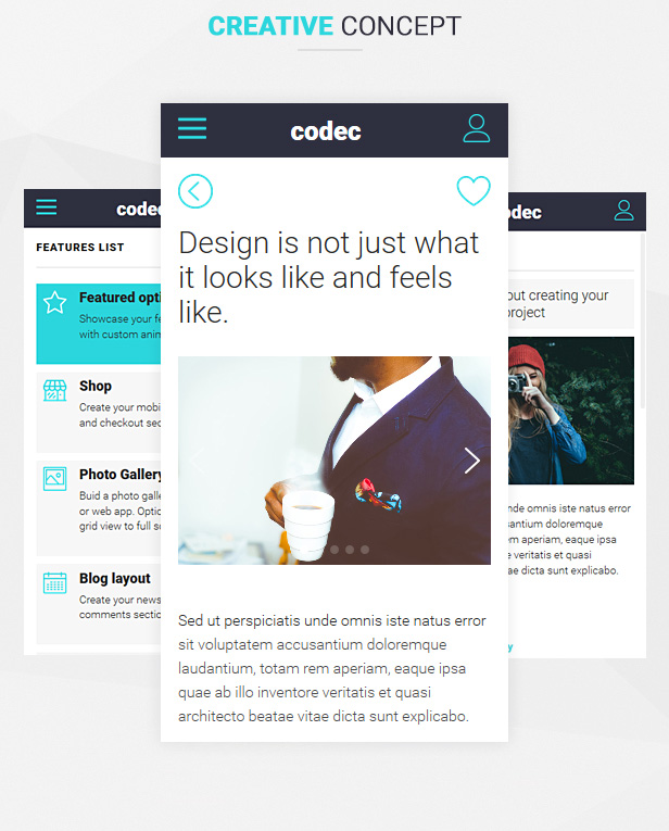 Codec Mobile HTML Template Site Templates ThemeForest