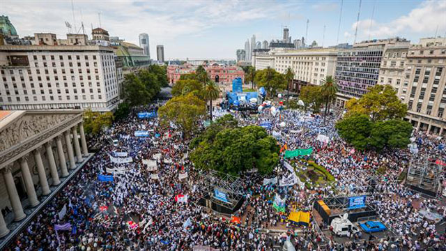 Movilizacion Plaza de May