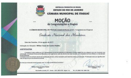 Moção da Câmara Municipal de Itaguaí ao Sindicato
