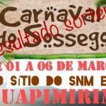 Resultado sorteio de carnaval, sítio Guapimirim