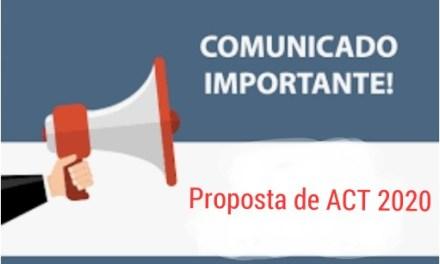 Proposta de Acordo Coletivo de Trabalho do SNM   referente ao ano de 2020