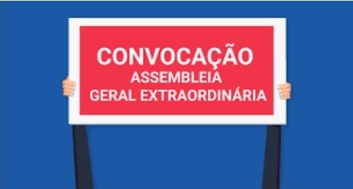 EDITAL DE CONVOCAÇÃO  ASSEMBLEIA GERAL EXTRAORDINÁRIA PARA 12/12/2019