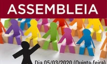 EDITAL DE CONVOCAÇÃO  ASSEMBLEIA GERAL EXTRAORDINÁRIA PARA O DIA 05/03/2020