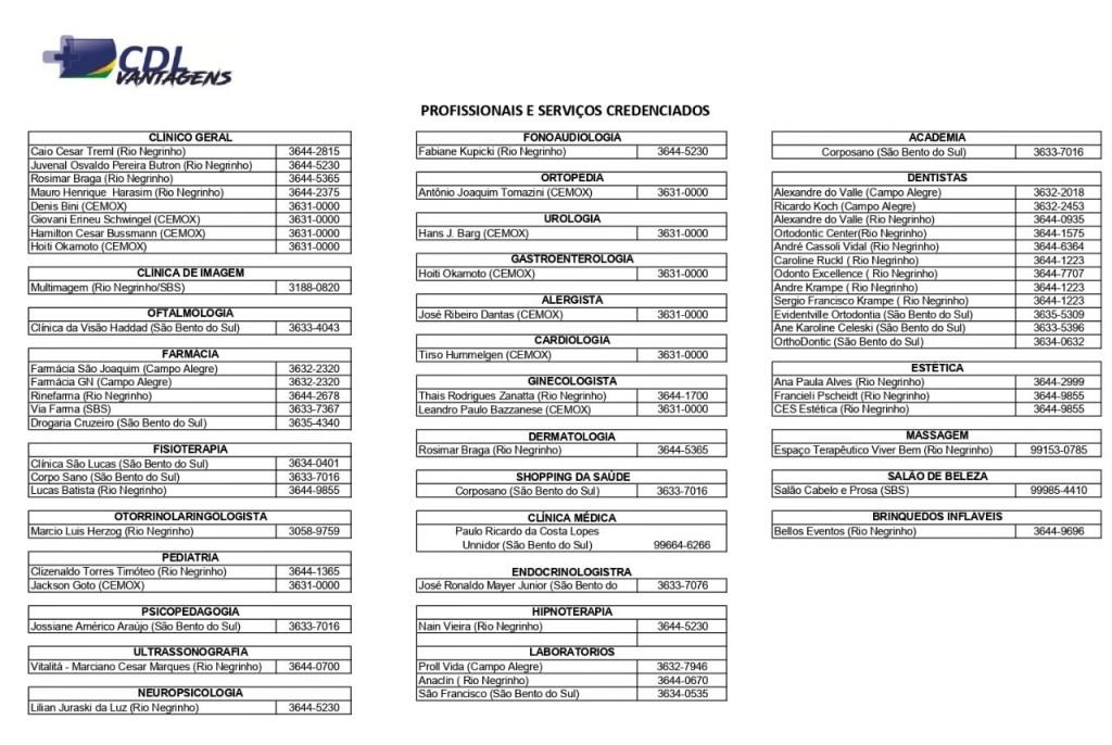 Convênios disponíveis pelo cartão CDL + Vantagens