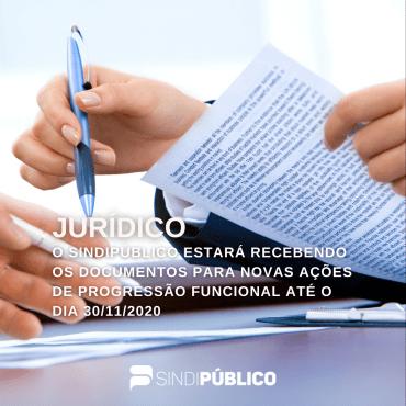 PROGRESSÃO FUNCIONAL: RECEBIMENTO DE DOCUMENTOS!