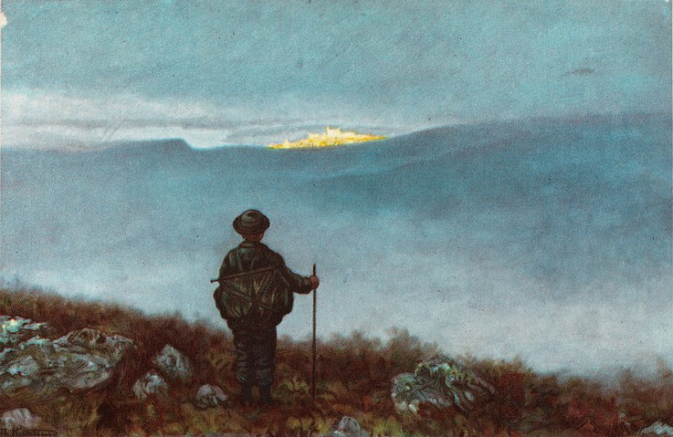 1900 Far, far away Soria Moria Palace shimmered like Gold Theodor Kittelsen