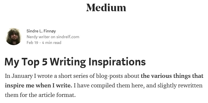 my medium article