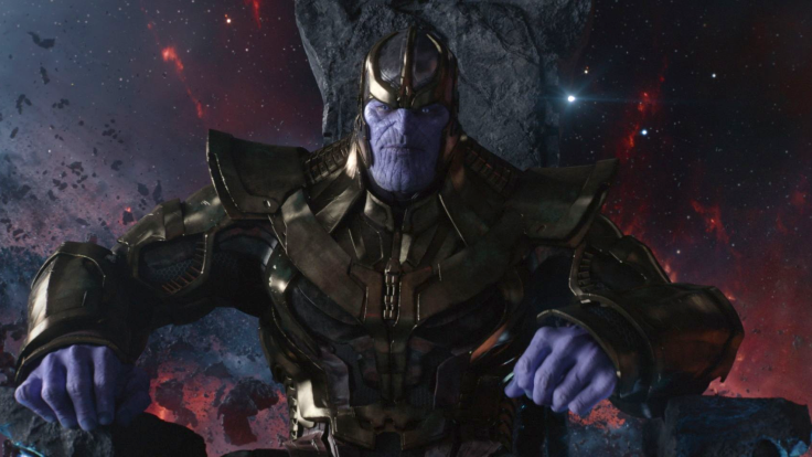 thanos sitting in his chair