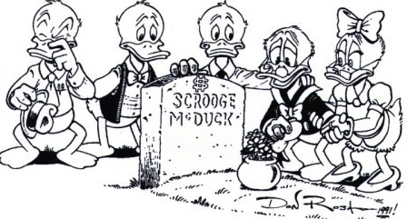 scrooge mcduck grave cooked