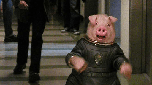 doctor who aliens of london space pig running