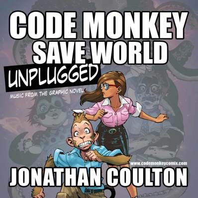 Code-Monkey-Save-World-Unplugged-2014-comic-cd-graphic-novel-music