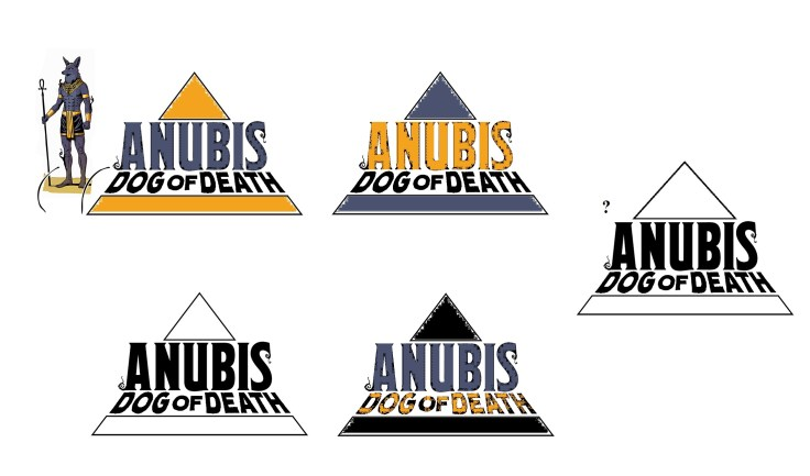 anubis dog of death logo colors wip