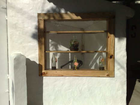 Fenster mit Glas seite