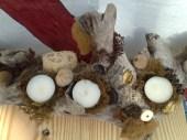 Fundholz mit Deko zum stellen
