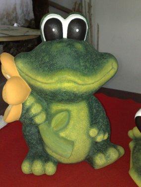 neue Farbe fuer Frosch aus Terrakotta