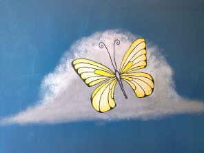 Schmetterling an Wand gemalt