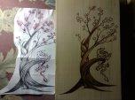 China Brandmalerei bonsai