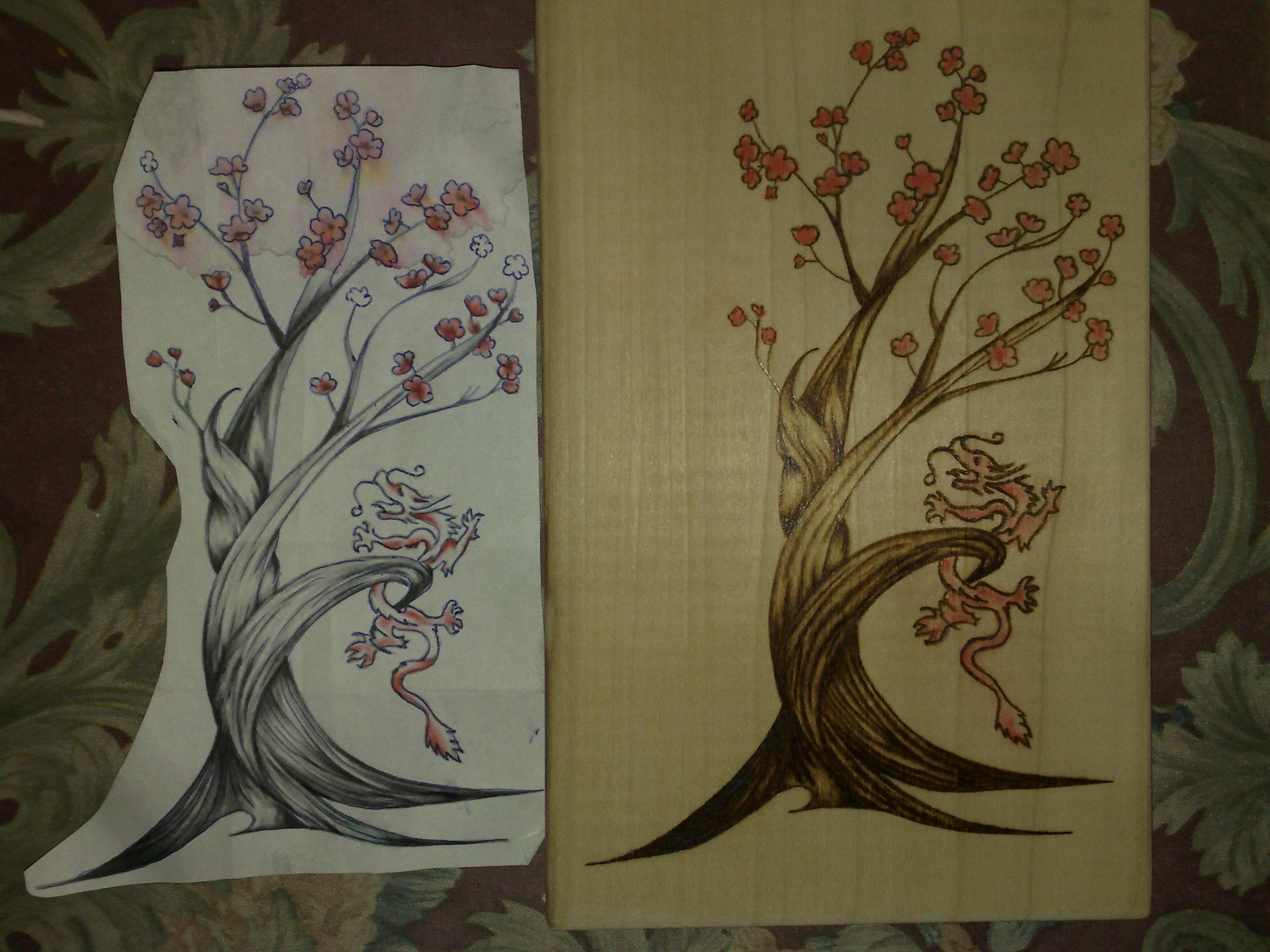 Neue Holz Brennarbeiten SR Decoration