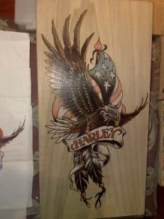 Harley davidson adler und flagge