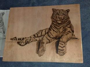 Brandmalerei Tiger vorlage