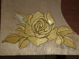 Intarsia-Rose