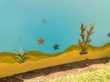 Wandgestaltung Unterwasser