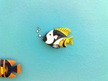 Wandgestaltung Holzfisch
