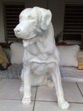 Restauration Rottweiler Statue