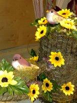 Sonnenblumen mit Voegeln