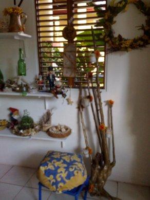 Wurzel als Kerzenhalter fuer Haus und Garten ( Wetterfest )