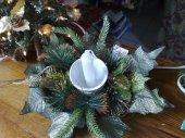 weihnachtlicheTischdeko in Silber 20cm Ø