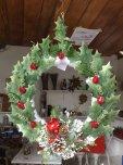 Weihnachtkranz Weiss Rot Gruen 35cm Ø