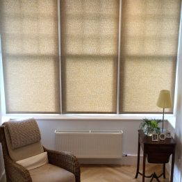 Textured roller blind for contemporary feel