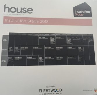 HOUSE 2018- Inspiration stage speakers schedule